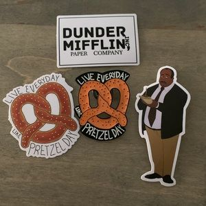 Stanley Hudson The Office Enamel Pin and Stickers